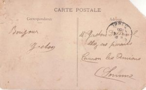 1503 Postcard to Gaston low