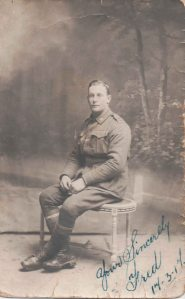 Fred Fisher sent this photo to his brother Les from Etaples in September 1917. At the time Les