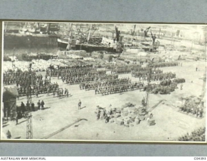 18th and 19th Battalions, landing at Marseilles from Egypt. AWM Image CO4393 out of copyright.