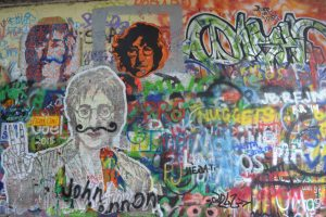 "I don't really ""get"" the whole John Lennon thing, but this wall is a major tourist site."