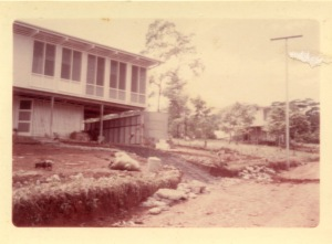 THEN: The Cass family's first home in Alotau, taken soon after the move from Samarai 1968.