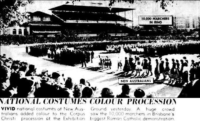 70,000 Attend Corpus Christi. (1951, May 28). The Courier-Mail (Brisbane, Qld. : 1933 - 1954), p. 3. Retrieved August 27, 2014, from http://nla.gov.au/nla.news-article50103012