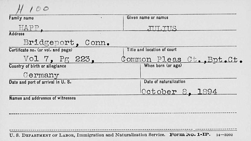 Julius Happ natn 1894 fm FamSearch