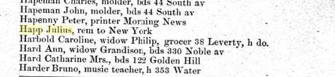 Bridgeport City Directory 1888, page 158