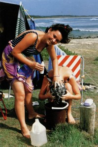 Two of the Cass girls, Hastings Point. Page 272, My Australia, Robertsbridge Group Pty Ltd, Sydney, 1989.