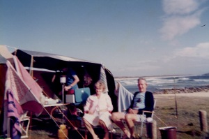 A souvenir photo, taken by one of the kids, when my parents came camping.