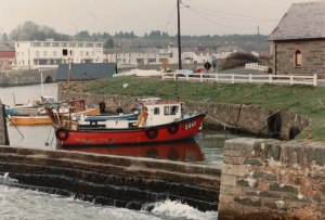 Courtown Harbour at 11am on 3 December 1989. Photograph by P Cass.