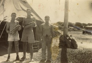 This photograph has the following names on the reverse: Ned Eteell, Slim Hope, and Percy Holt. My guess is this photo is in  PNG.
