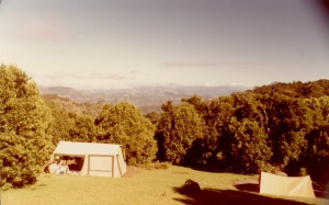 "The caption on this says ""our firs camping weekend, Lamington NP, Anzac weekend 1985"". Both tents are ours."