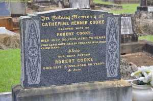 Photograph from the Toowoomba cemetery grave search.