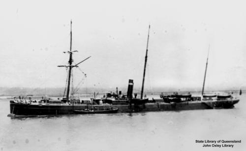 The 'Almora', 2000 ton ship. Commanded in 1883 by Captain Franks. Carried immigrants from Plymouth to ports in Queensland. oai:bishop.slq.qld.gov.au:78321