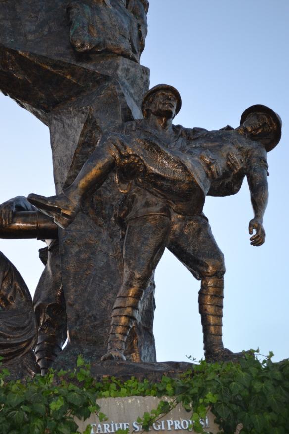 Part of the Tarihe Saygi (Respect for History) monument at Esceabat, (Gallipoli Peninsula) Turkey.