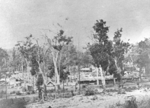 One of Fountain's Camps, possibly at Murphys Creek.