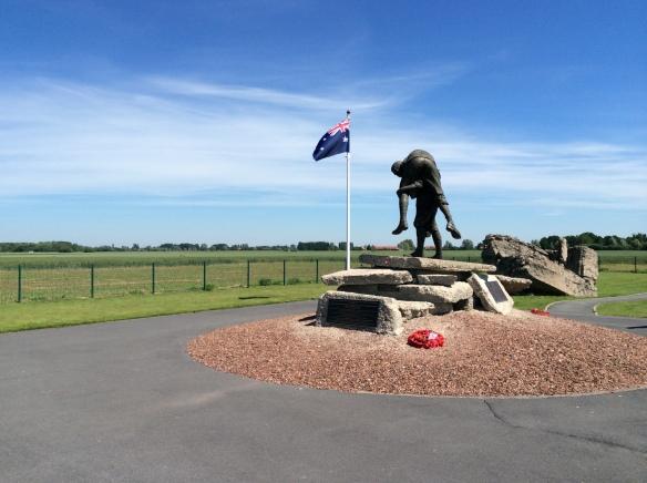 The Cobbers Memorial at Fromelles 2014.
