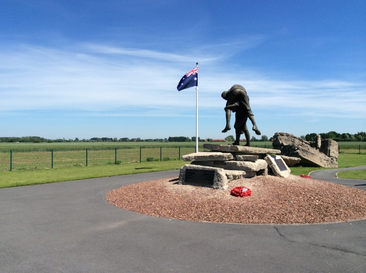 The Cobbers Memorial at Fromelles 2014.