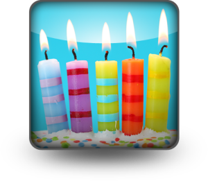 fifth birthday candles