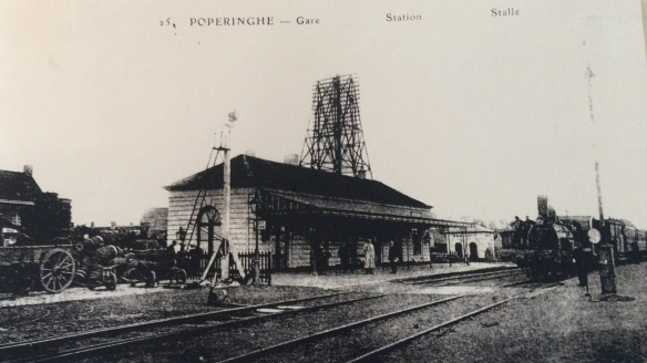 Poperinghe Railway Station near the time when my grandfather served there.