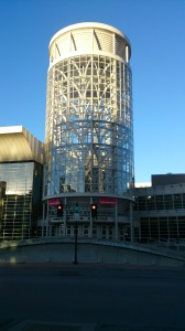 The impressive entry to the Salt Palace Convention Centre - site of RootsTech and FGS.