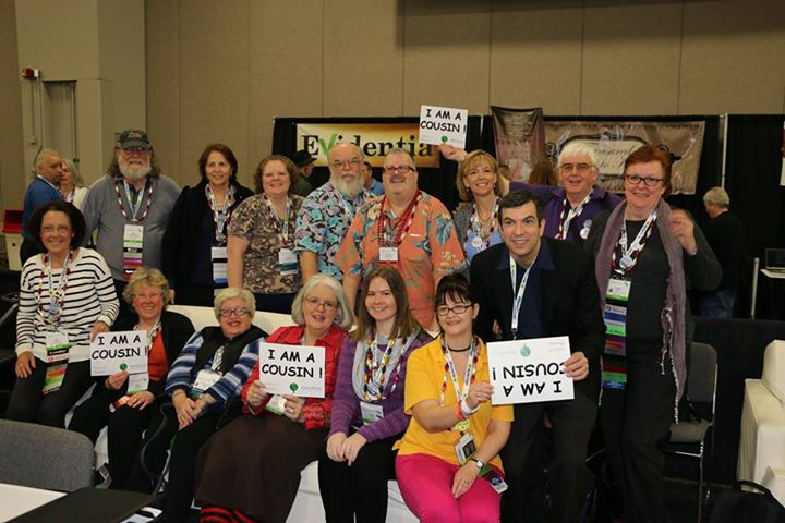 Not all the Geneabloggers at RootsTech but a representative sample with keynote speaker . Not sure who took the photo, but thank you!