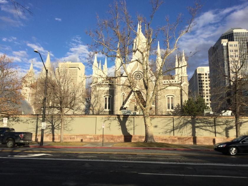 Salt Lake Temple in Temple Square.