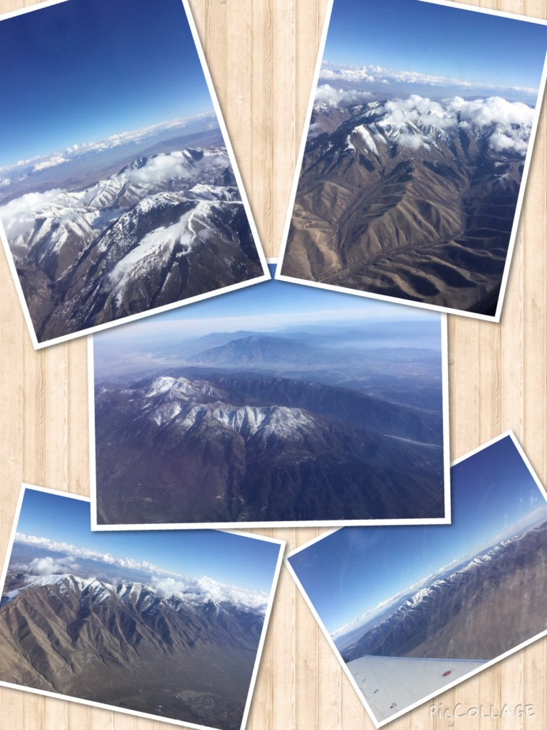 Collage of mountain scenery.