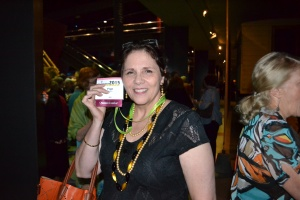 Fellow blogger, Fran aka Travelgenee, was pretty pleased with her beads and ribbons.