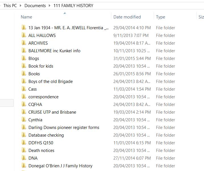 Screen dump filing system