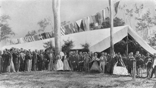 Unidentified (1865). Official opening of the first section of the Ipswich to Grandchester railway, Ipswich, 1865. John Oxley Library, State Library of Queensland