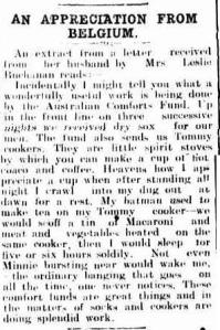 AN APPRECIATION FROM BELGIUM. (1918, April 22). Darling Downs Gazette (Qld. : 1881 - 1922), p. 3. Retrieved http://nla.gov.au/nla.news-article171753664