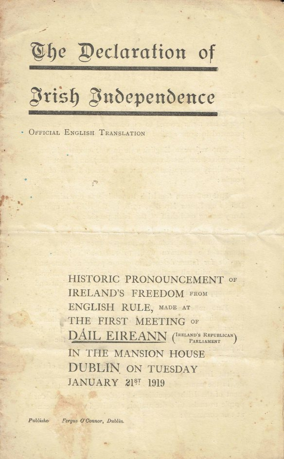 Irish proclamation page 1