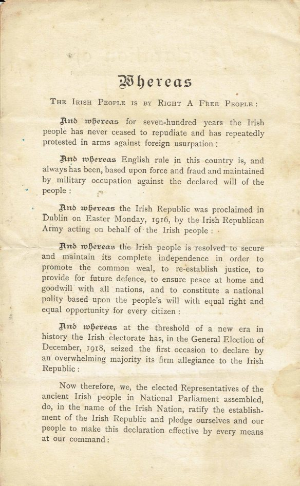 Irish proclamation page 2
