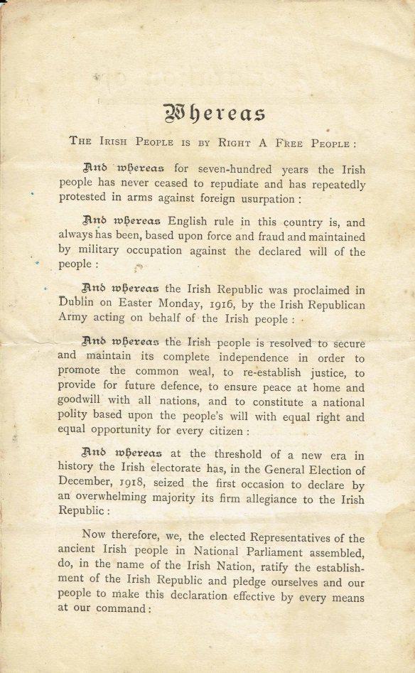 Irish proclamation page 2