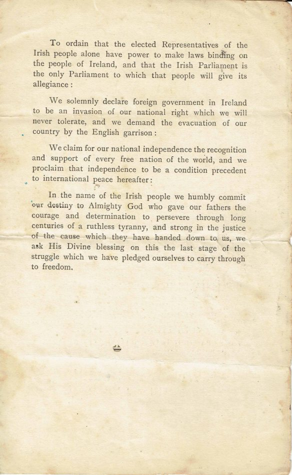 Irish proclamation page 3