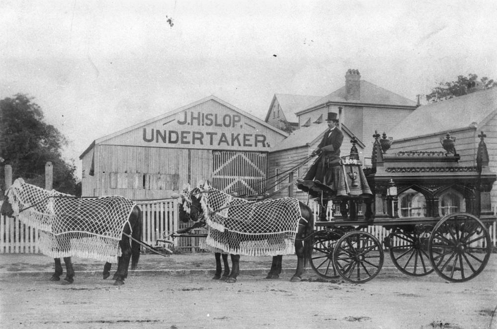 Funeral hearse made by John Hislop in Brisbane ca. 1895