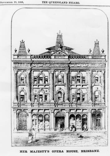 Sketch of Her Imperial Majestys Opera House Brisbane 1888 Trove