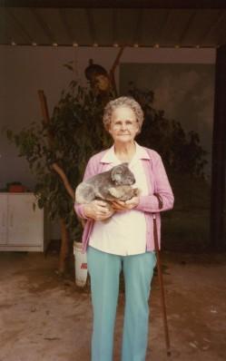 Mary farraher with koala