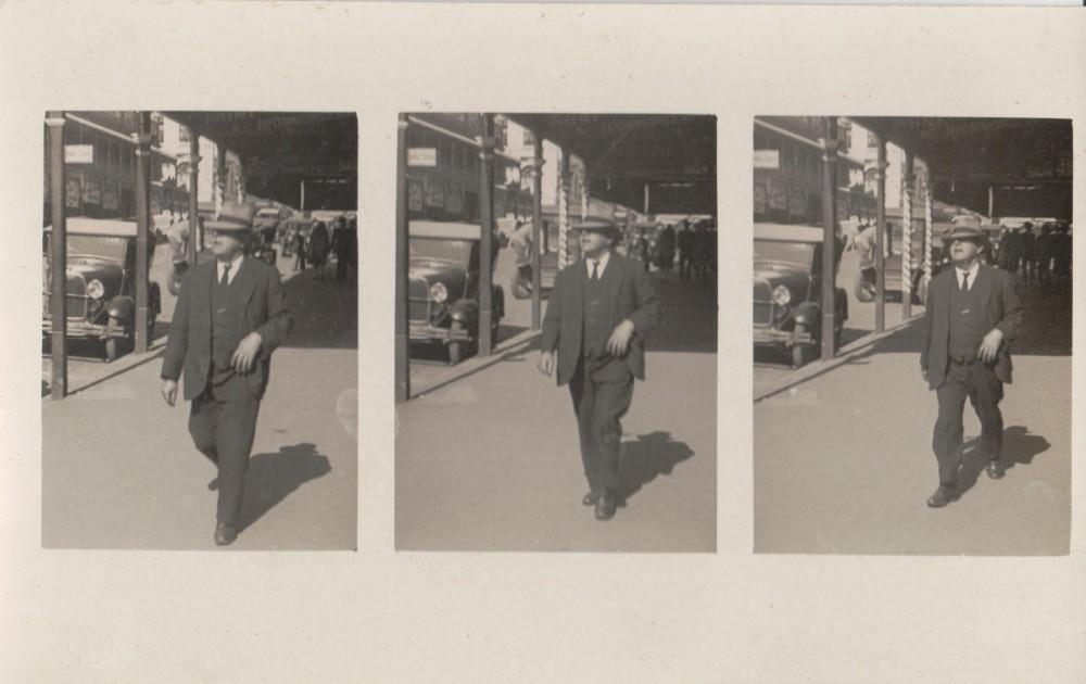 Denis Kunkel walking in town