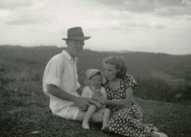 Dad, Mum and me - a picnic or at my aunt's?