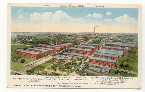 PostcardManchesterCTCheneyBrothersMills1920