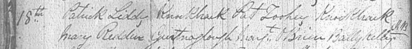 REDDAN LIDDY marriage 1871