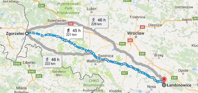 Gorlitz to Poland Lambinowice