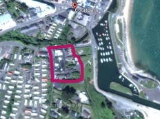 Courtown harbour marked