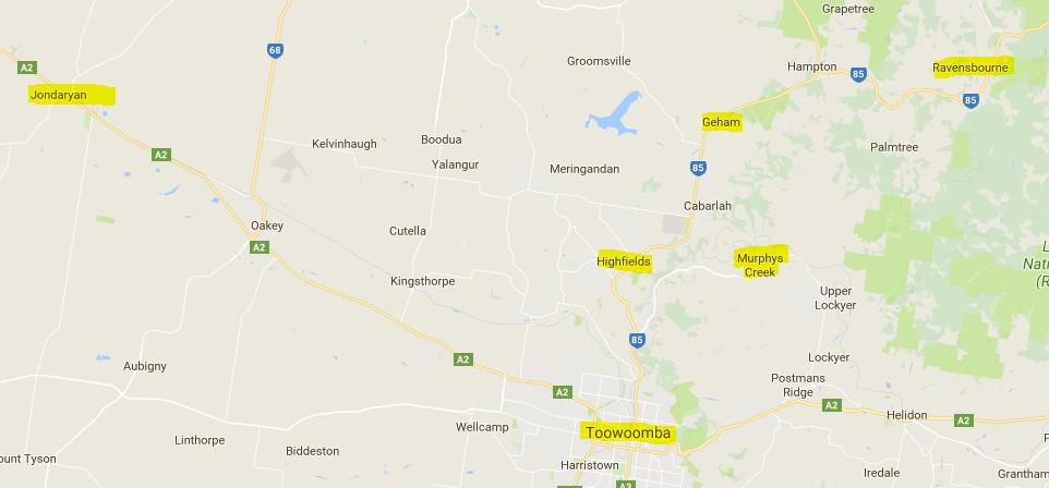 Lockyer and Toowoomba