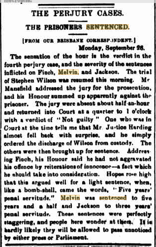 MELVIN Qld Times 27 Sept 1887 p5