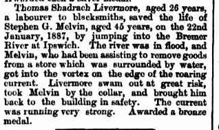 MELVIN Telegraph 8 July 1887 p3
