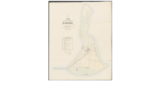 Plan of St Helena 1887