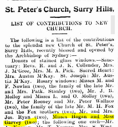 St Peters Surry Hills Freemans Jnl 1918