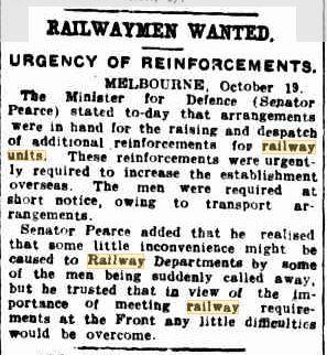 Railway Units 20 Oct 1917 p5 Bris Courier