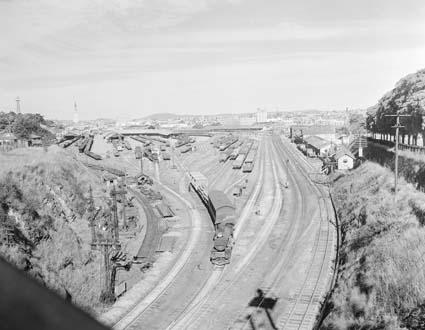 Roma St goods yard 1951 NAA