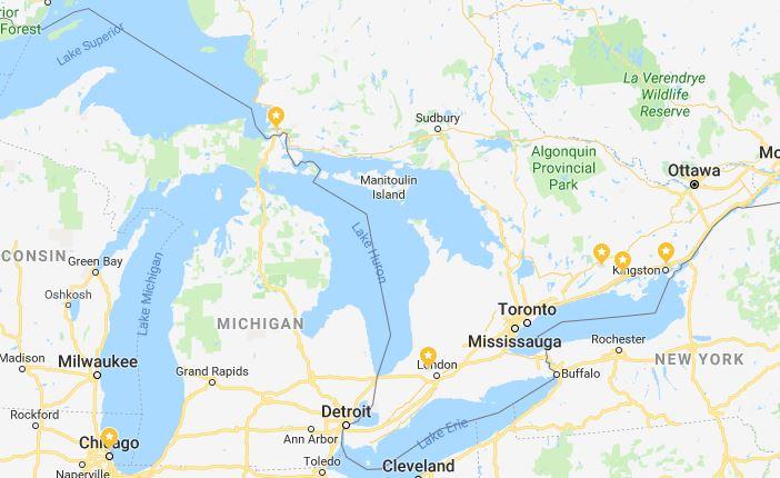 McColl map Canada